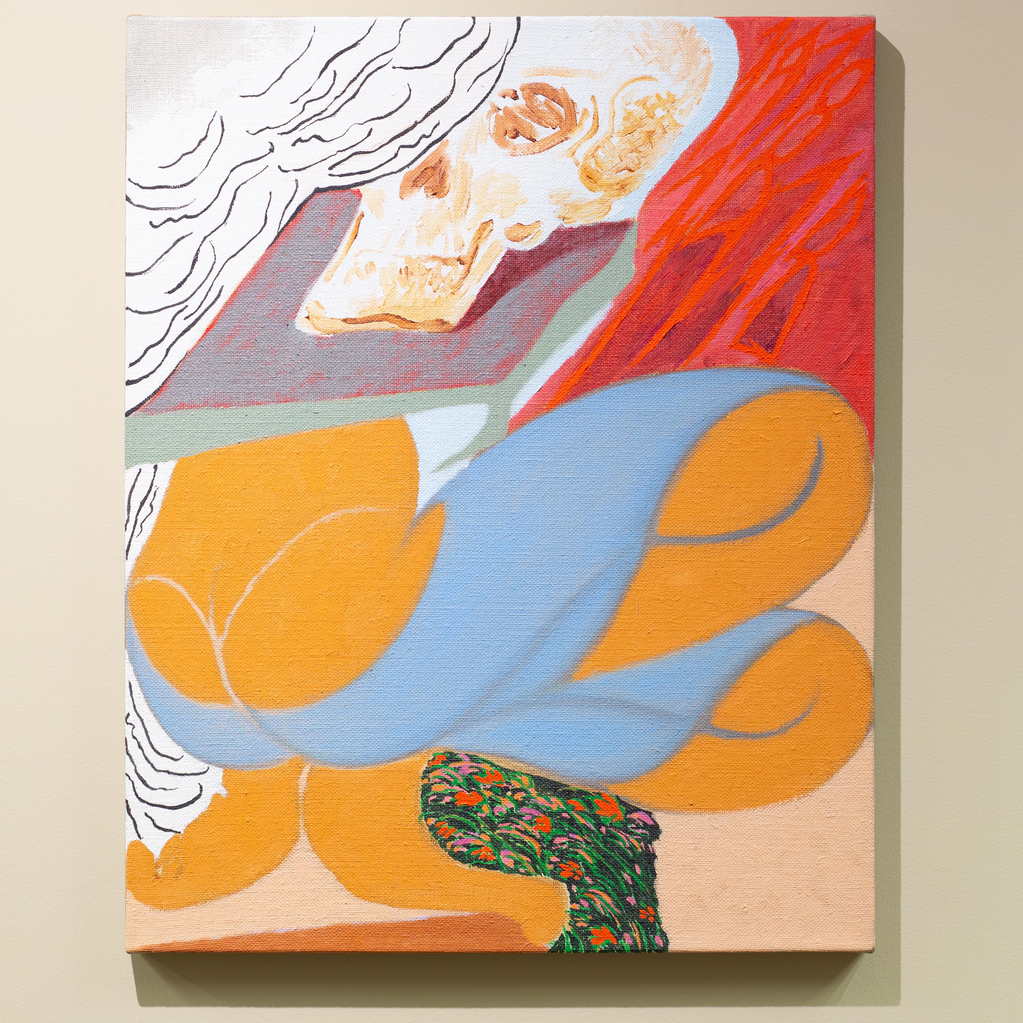 """Joshua Bienko, Ho Fame. Che Tavolo?, 16"""" x 20"""", oil on linen, 2020"""