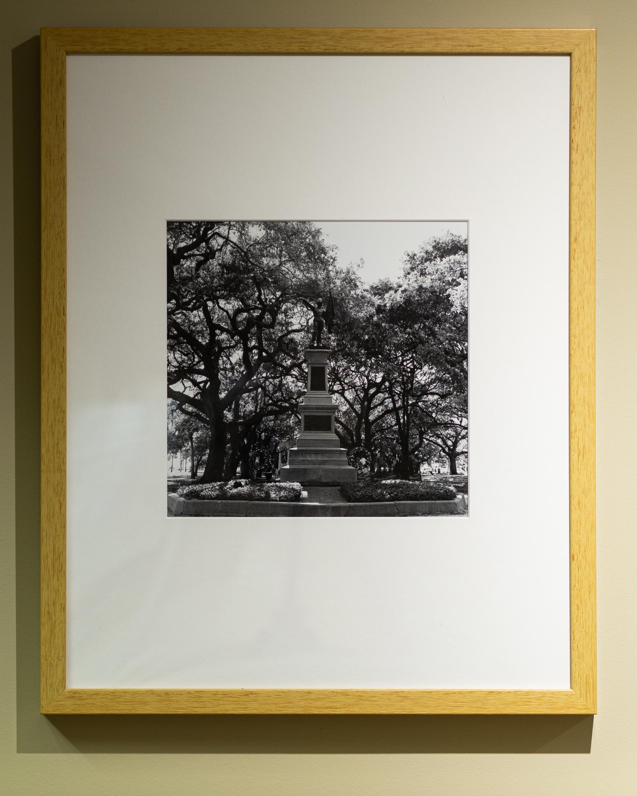 "Paul Lee, Sergeant Jasper Monument, White Point Garden, Charleston, South Carolina, 20"" x 16"", gelatin silver print, 2019"