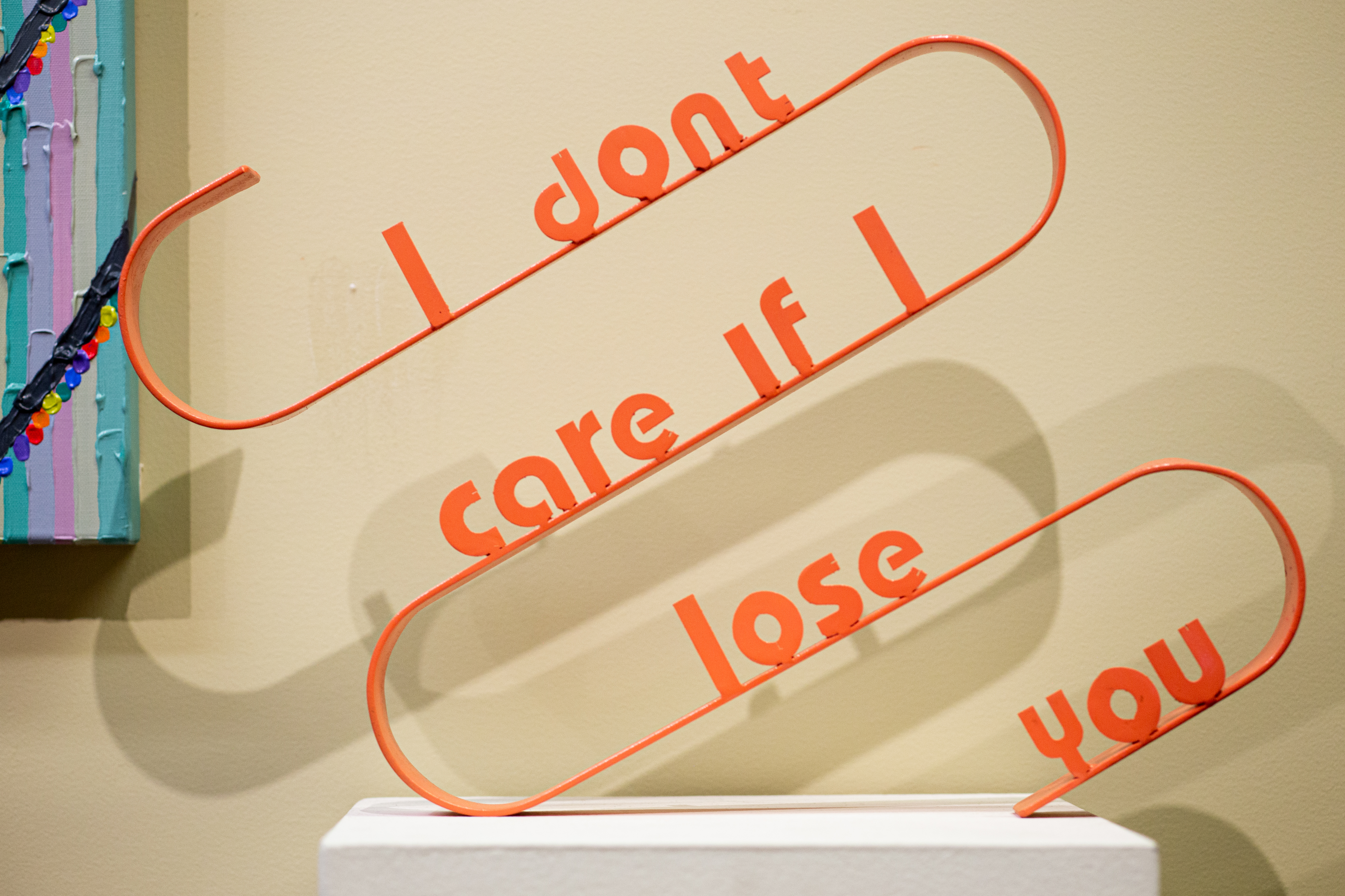 """Erica Mendoza, Nothing without you but everything to gain, 20"""" x 15"""" x 2"""", steel, 2020"""