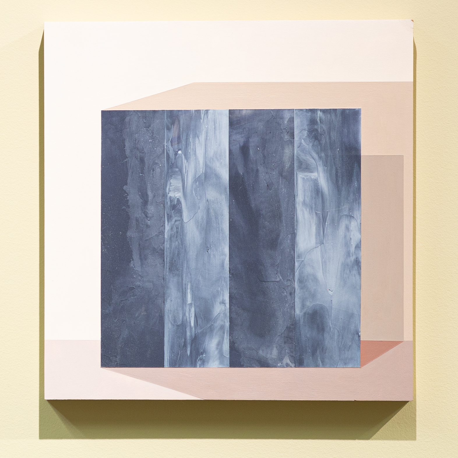 """Mary Laube, The Wall Opened Noiselessly Before Me, 12"""" x 12"""", acrylic on panel, 2018"""
