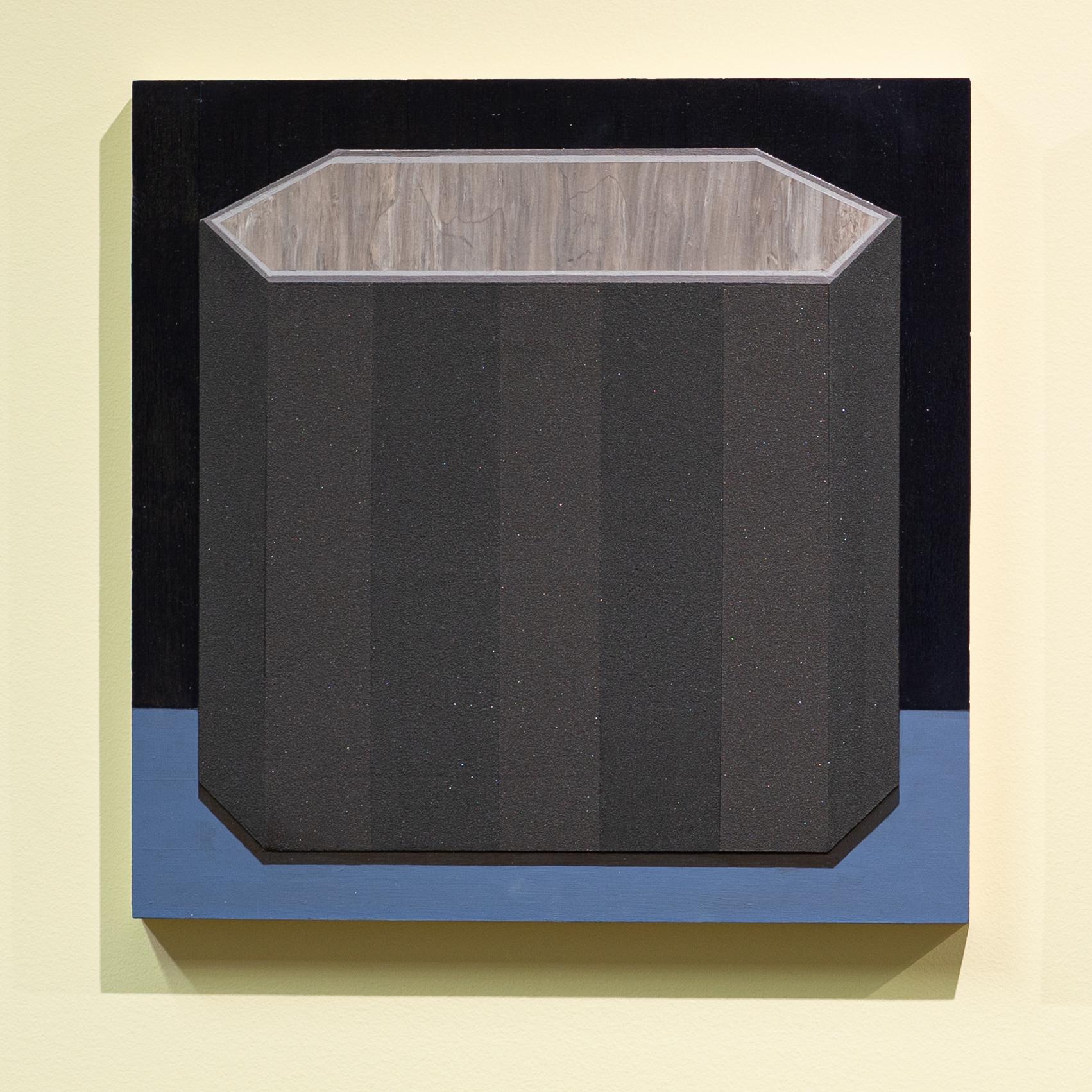 "Mary Laube, Urn, 12"" x 12"", acrylic on panel, 2018"