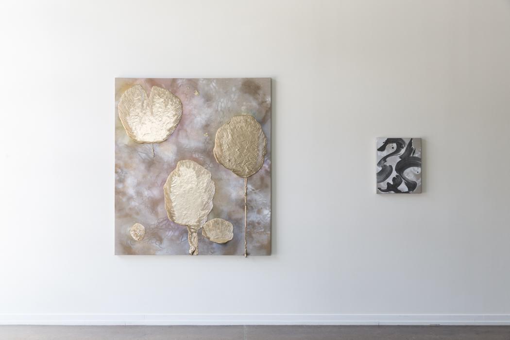Richard Feaster, Promise of the Sun, 2019 (Left), Valse Hot, 2019 Richard Feaster (Right)