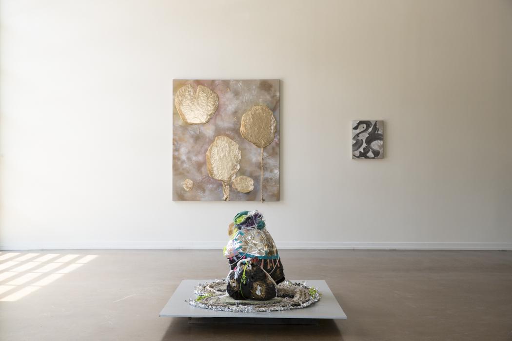 Zipporah Thompson, Solstice Serpent (Front), Richard Feaster, Promise of the Sun, 2019 (Back), Valse Hot, 2019 (Right)